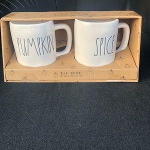 Rae Dunn - Pumpkin/Spice Coffee Mugs